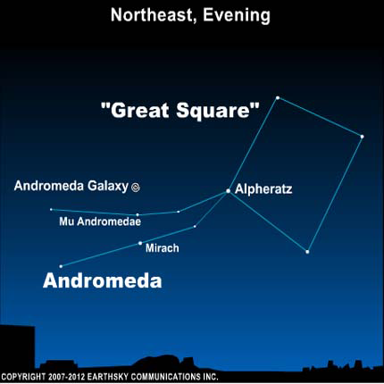 10aug30 430 EarthSky Tonight— August 30,  Andromeda Galaxy visible again each evening