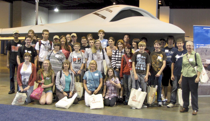AUVSI AUVSI Foundation Hosts Thompson School District Students at International Robotics Event