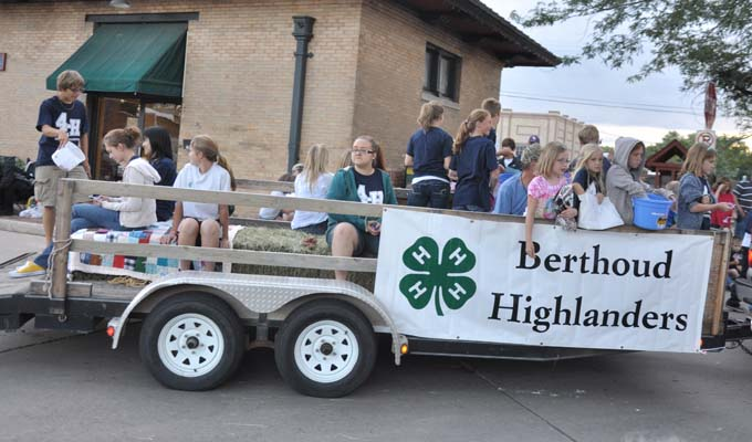 Berthoud Highlanders in parade Larimer County Fair Photos Review