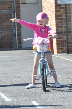 Erin Preusse on street ride1 Mayor to hand out Bike Rodeo Trophies