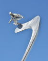 Snowboard Sculpture in Loveland