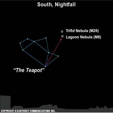 10sep03 430 September 3,  Find the Lagoon and Trifid Nebulae