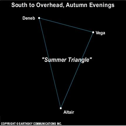 10sep27 430 EarthSky Tonight—September 27,  Summer Triangle high overhead on autumn evenings