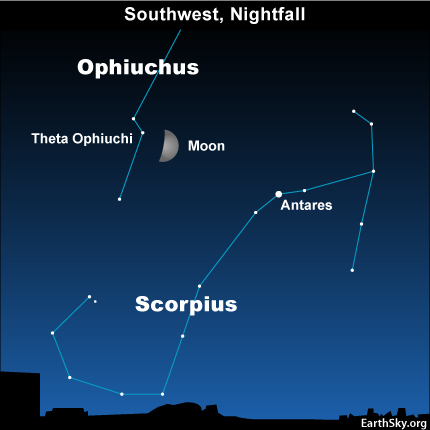 10sept14 430 EarthSky Tonight—September 14, Moon in forgotten constellation of Zodiac
