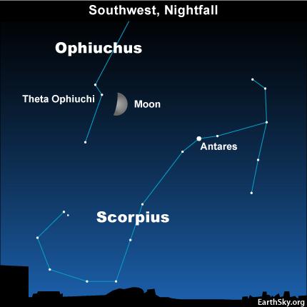 10sept14 430 EarthSky Tonight—September 14, Moon in forgotten constellation of Zodiac