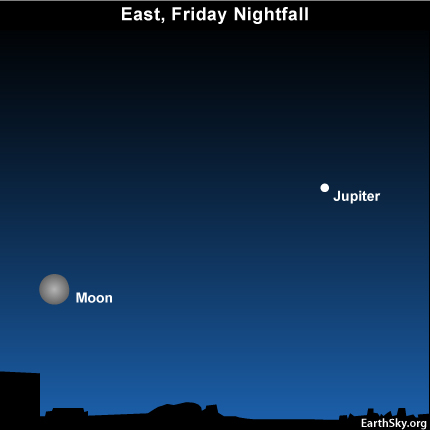 10sept24 430 EarthSky Tonight—September 24, Harvest moon, Jupiter still out dusk to dawn