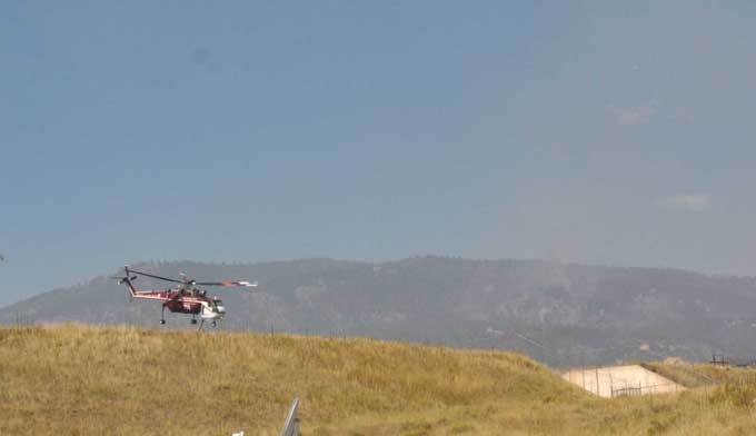 7850 Helo lift off1 Reservoir Road Fire: Sept 13 update