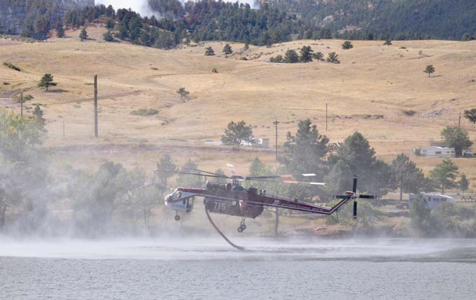 Helicopter Reservoir Road Fire, Sunday evening update