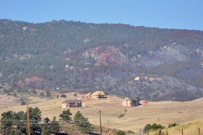 Hillside Some access for evacuees of Reservoir Road Fire