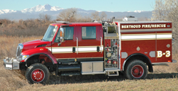 engine13 Berthoud Fire assists at FourMile Canyon