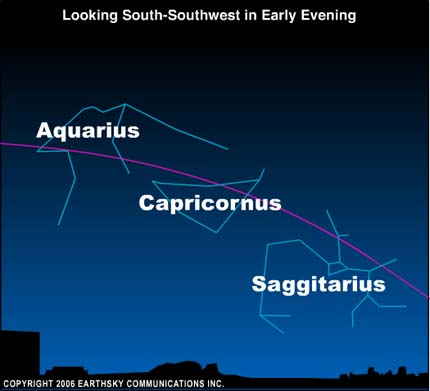 10oct14 430 EarthSky Tonight—October 14,  Find constellations of the Zodiac on October evenings