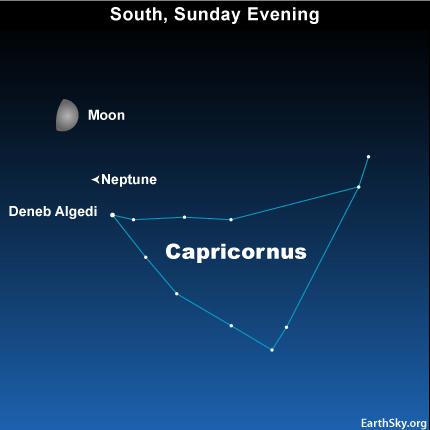 10oct17 430 EarthSky Tonight—October 17,  Solar system's outermost planet near moon