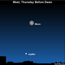 10oct20a 430 EarthSky Tonight—Tonight October 20, Moon washes out Orionid meteors, but guides you to Jupiter