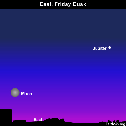 10oct22 430 EarthSky Tonight—October 22,  Hunter's Moon rises at sunset, shines all night
