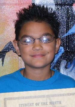 Giovanni Esparza Turner Middle School, August Students of the Month