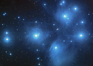 pleiades 2 EarthSky Tonight October 11,  Antares is bright star near moon in early evening