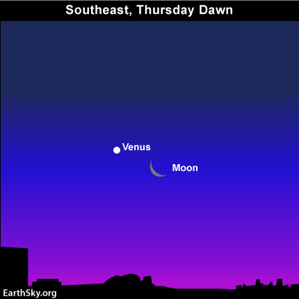 10dec01 430 EarthSky Tonight—December 1, Moon and Venus at brightest pair up before sunrise December 2