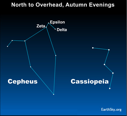 10nov06 430 EarthSky Tonight—Nov 6, A famous variable star in the constellation Cepheus