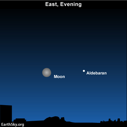 10nov22 430 EarthSky Tonight—Nov 22, Month's most northerly moon