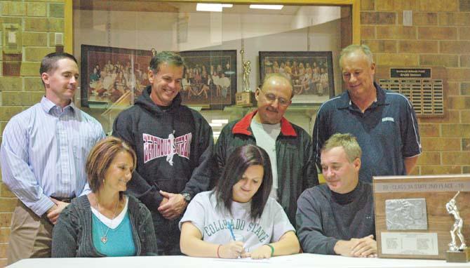 Wikre signing 670 Berthoud's Danielle Wikre Earns Softball Scholarship