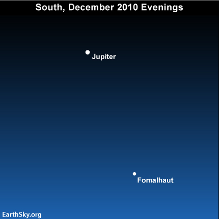 10dec16 EarthSky Tonight—December 16, Jupiter at eastern quadrature