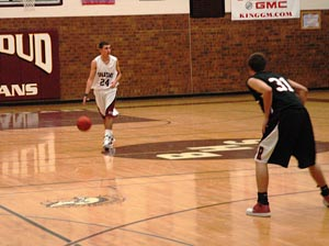 Hutchins 1 Berthoud High Boys Basketball Fall to Roosevelt 74 45