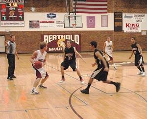 Jesse Queen 2 Berthoud High Boys Basketball Fall to Roosevelt 74 45