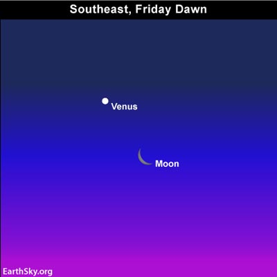 dec30 Sky TonightDecember 30, Moon and Venus will shine before dawn tomorrow