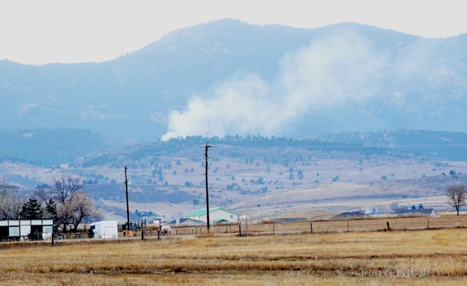 fire west of berthoud Small plane crashes near Carter Lake