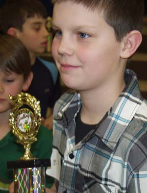 Chase Corlett Ivy 3rd Place Trophy Ivy Stockwell Elementary Takes Third at District Spelling Bee