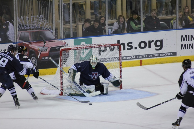 Hoggs shot blocked Eagles fall 6 3 to Allen Americans