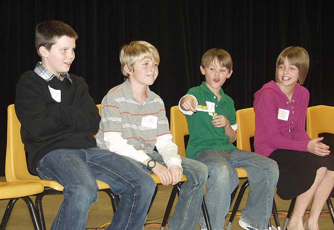 Ivy 5th Graders Adam Brooke Ben Tate Chase Coach Lisa Paradise Ivy Stockwell Elementary Takes Third at District Spelling Bee