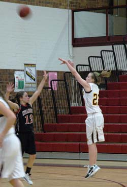 Julia Perry 11 Berthoud Girls Basketball Tops Strasburg