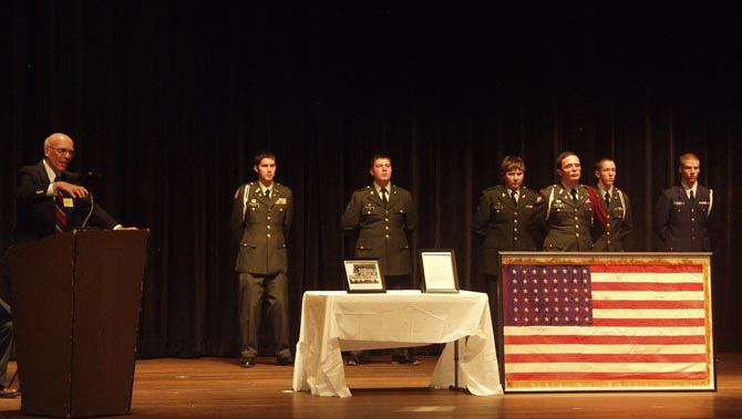 Key Note Speaker 6702 48 Star Flag Dedicated at Berthoud High School