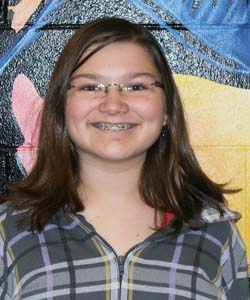 Lauren Berens  Turner Middle School, January Students of the Month