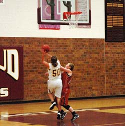 Loberg shoots in 1st 250 Berthoud Girls Basketball Rolls Over Mead