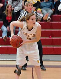 Megan McGinn 3 Berthoud Girls Basketball Tops Strasburg