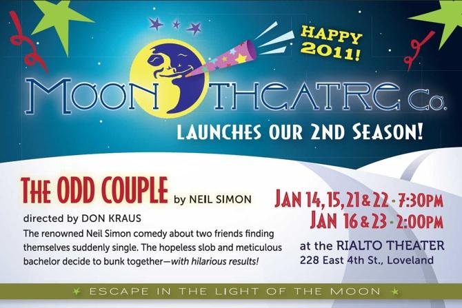 OddCouple postcard The Odd Couple at the Rialto