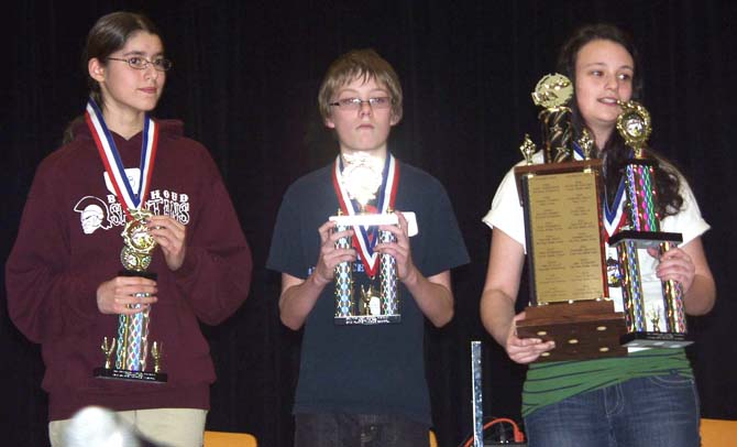 Olivia Ken and Rocky1 Turner Takes Two Trophies at District Spelling Bee