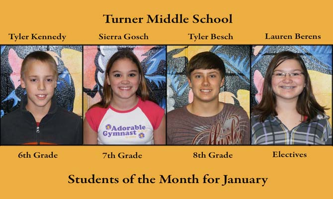 Turner SOM Jan feature Turner Middle School, January Students of the Month