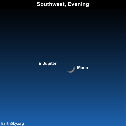 jan09 Sky TonightJanuary 9, Watch moon and Jupiter 