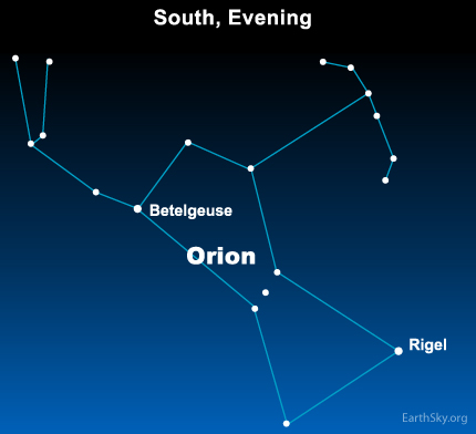 jan20 Sky Tonight—January 20, Orion the Hunter easy to spot in January night sky