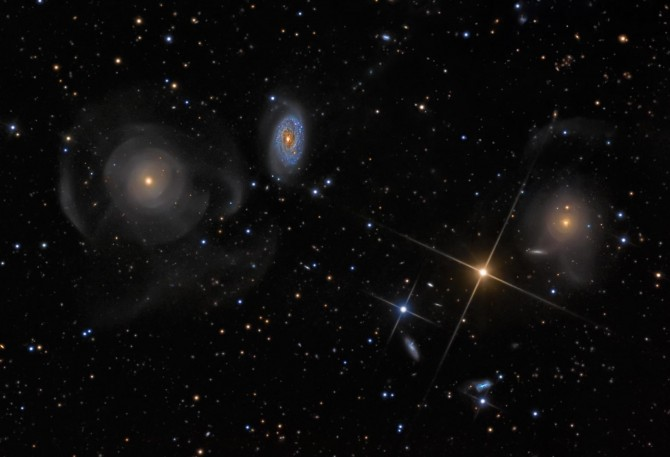 Arp227friends leshin 670x457 Astronomy Picture of the Day