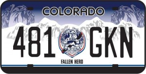 Colorado Law Enforcement Memorial Plate1 300x152 Sheriffs Deputy initiates effort to establish law enforcement license plate