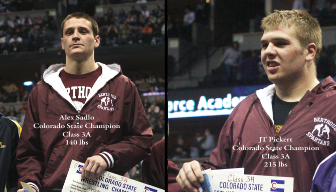 Sadlo Pickert Sadlo and Pickert: State Wrestling Champs
