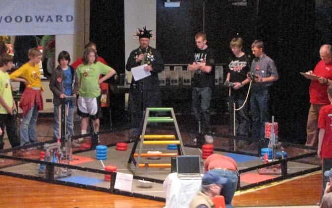 arena Robot Battle at Berthoud High School