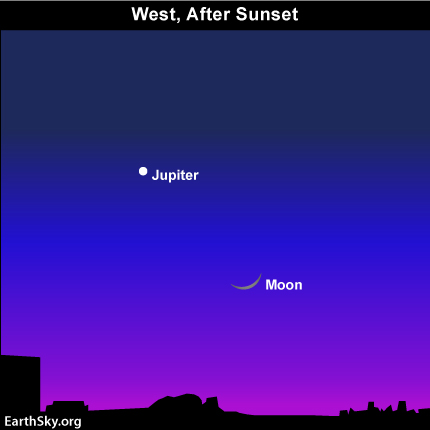 feb051 Sky Tonight—February 5, Moon closer to Jupiter
