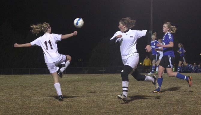 3 10 11.2 Kara Lind  Amy Loberg Berthoud Soccer Drops Season Opener
