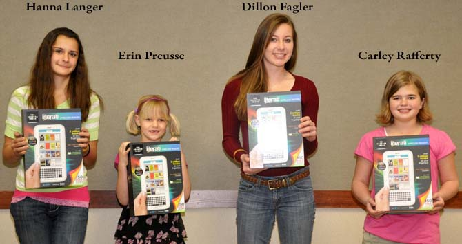 Feature slide w names2 Winners announced in Berthoud Schools Fund Writing Contest