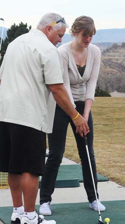 King and Jesse Bercaw 1 2501 Spartan Golfer Brandi Peter Aims for State